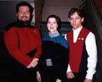 Myron as Riker, Patti as Dax, and Paul as crewman