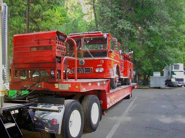 Click Engine 51 on the flatbed to read about her journey into retirement. She has journeyed out of Yosemite and is back home at the CLAFMA museum in L.A.