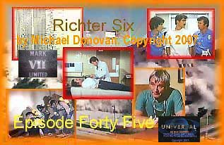 Produced in May 2007. Roy and Johnny relive a flashback about a county wide earthquake they worked while teaching paramedic class. Joe Early struggles to save a little girl and the gang, Chet Kelly. Script Dialogue and premise by Michael Donovan�.